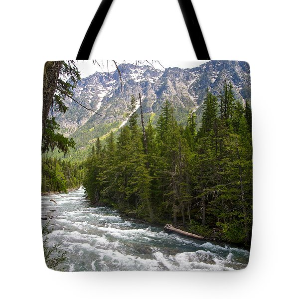 Mcdonald Creek In Glacier Np-mt Tote Bag