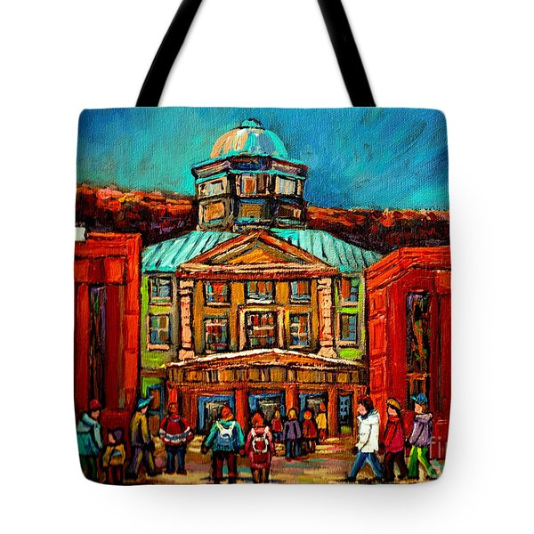 Mcgill Gates Montreal Tote Bag