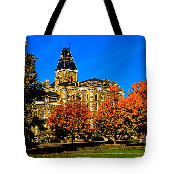 Mcgraw Hall Cornell University Tote Bag