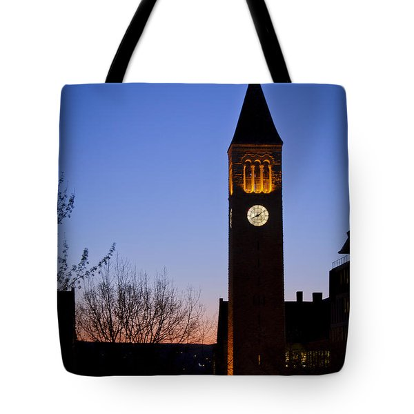 Mcgraw Tower Cornell University Tote Bag