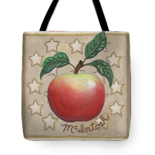 Mcintosh Apple Two Tote Bag by Linda Mears
