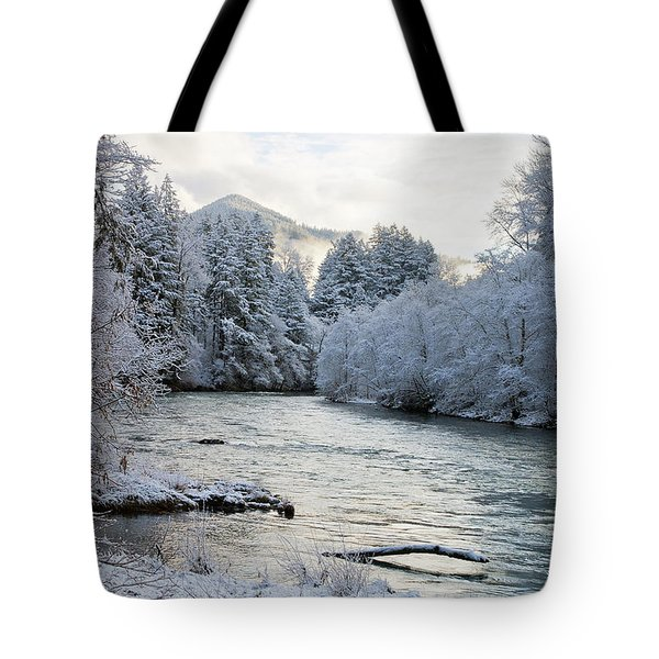 Tote Bag featuring the photograph Mckenzie River by Belinda Greb