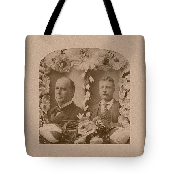 Mckinley And Roosevelt Tote Bag by War Is Hell Store