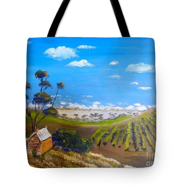 Mclarren Vale Vine Yards Tote Bag by Pamela  Meredith