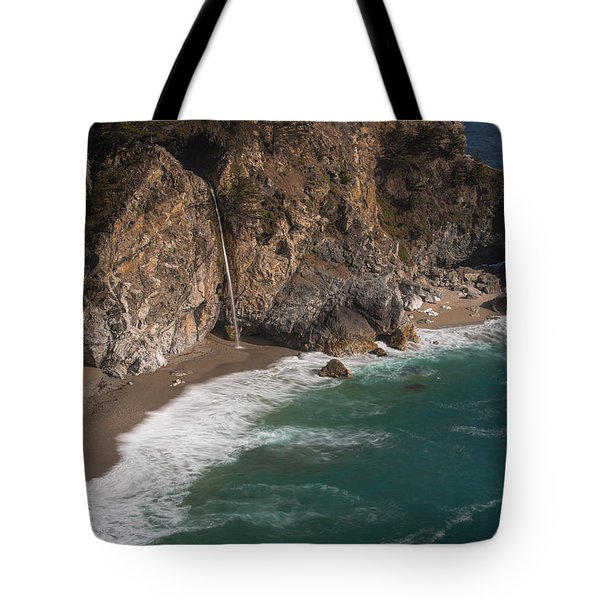 Mcvay Falls... Big Sur  Tote Bag by Tim Bryan