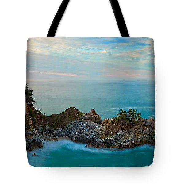 Mcway Falls At Sunrise Tote Bag