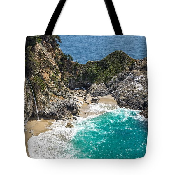 Tote Bag featuring the photograph Mcway Falls Big Sur by Priya Ghose