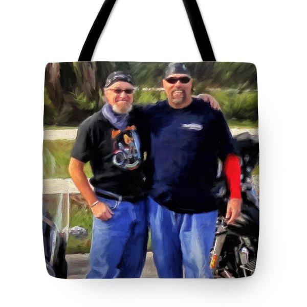 Me N' Bro Tote Bag by Michael Pickett