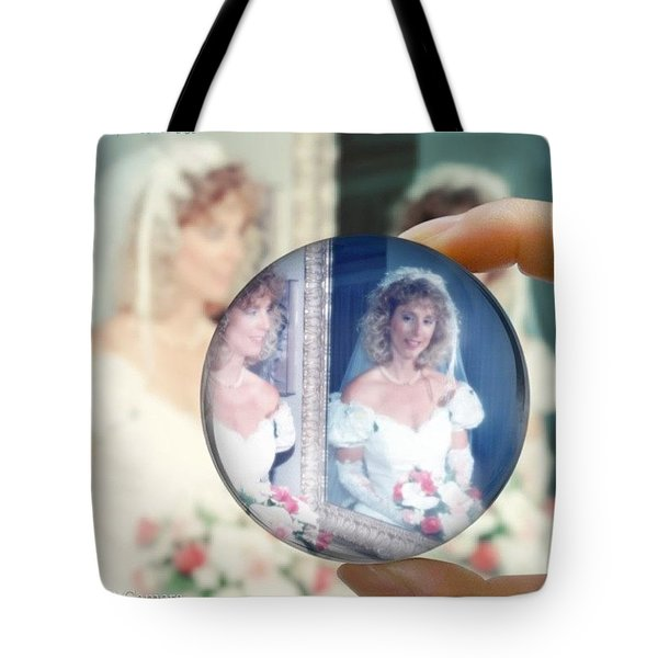 Me Then On My Wedding Day  Tote Bag