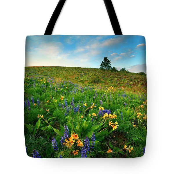 Meadow Gold Tote Bag by Mike  Dawson