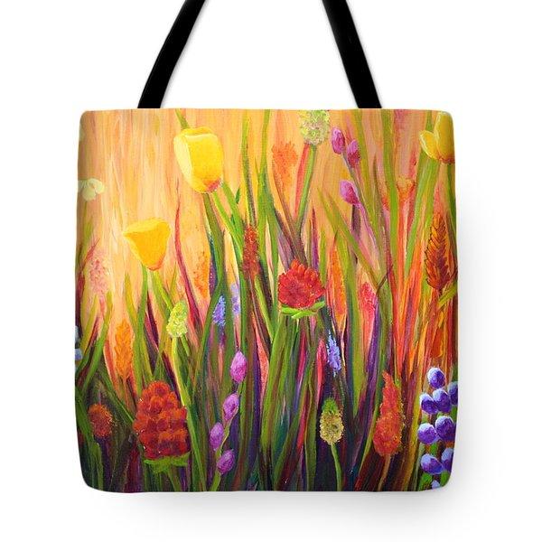 Meadow Gold Tote Bag by Nancy Jolley