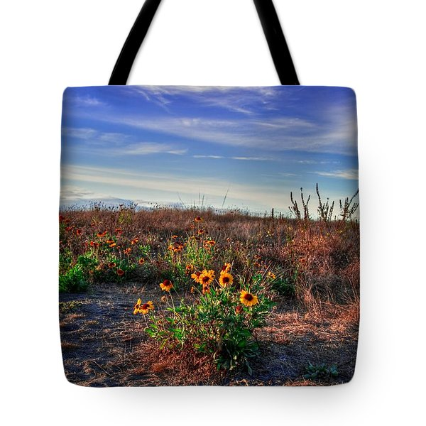Tote Bag featuring the photograph Meadow Of Wild Flowers by Eti Reid