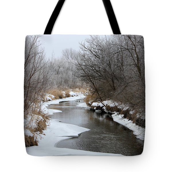 Meandering Geese Tote Bag