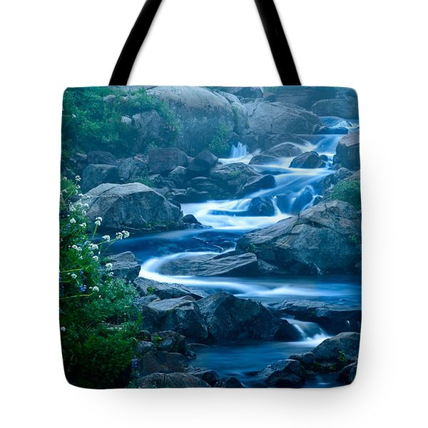 Meandering Stream Tote Bag by Chris McKenna