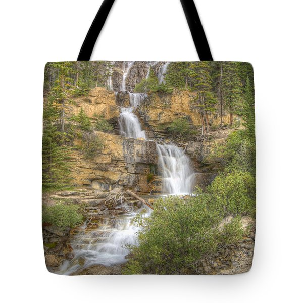 Meandering Waterfall Tote Bag