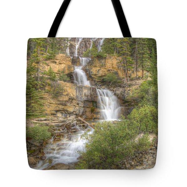 Meandering Waterfall Tote Bag by Wanda Krack
