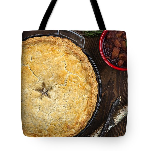 Meat Pie Tourtiere Tote Bag