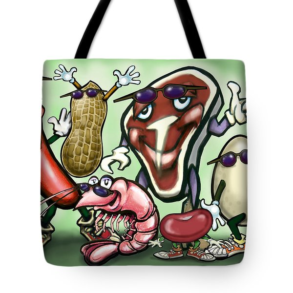 Meats Protein Food Group Tote Bag