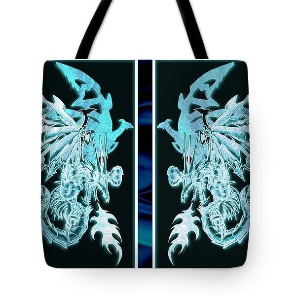 Mech Dragons Diamond Ice Crystals Tote Bag