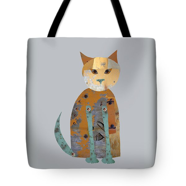 Mechanical Cat Tote Bag by Ann Powell