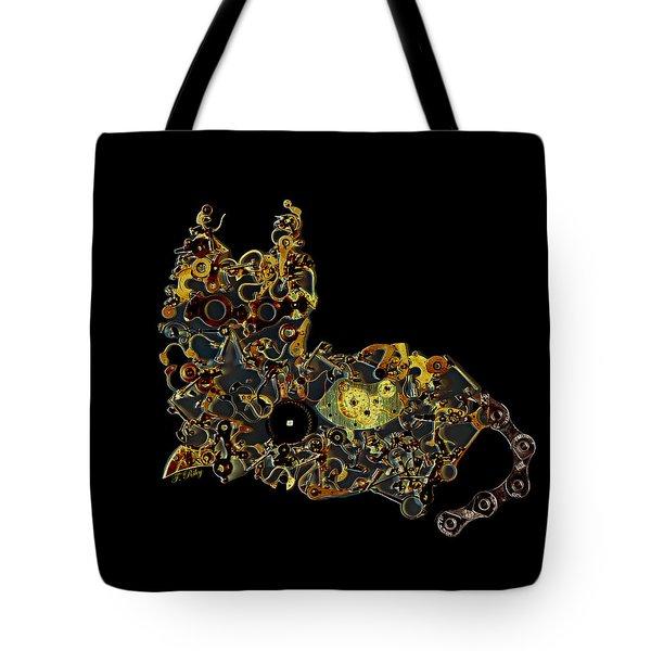 Mechanical - Cat Tote Bag by Fran Riley