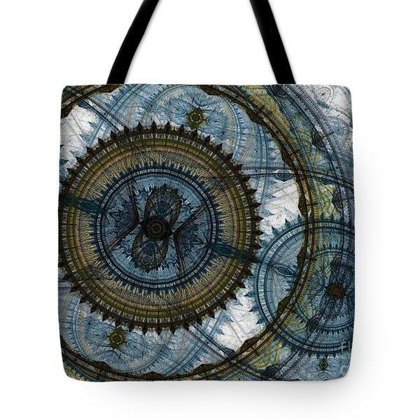 Mechanical Circles Tote Bag by Martin Capek