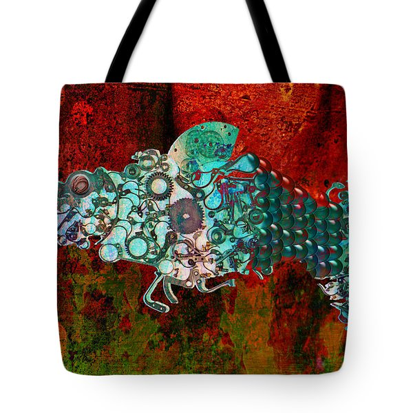Mechanical - Fish Tote Bag by Fran Riley