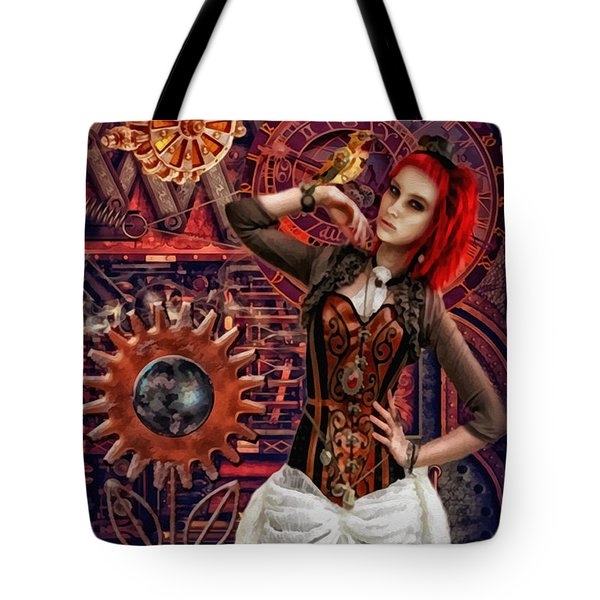 Mechanical Garden Tote Bag by Mo T