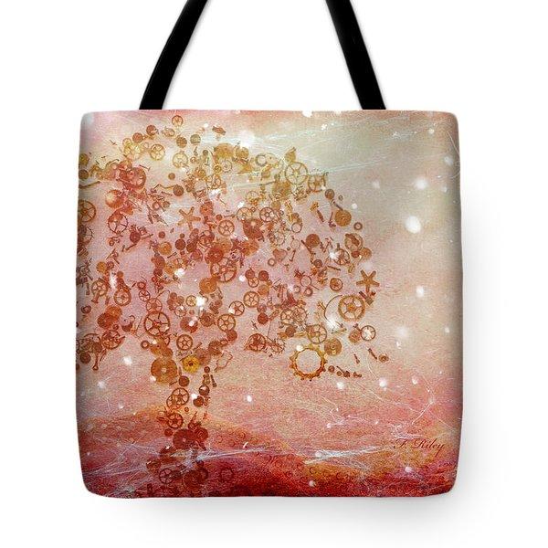 Mechanical - Tree Tote Bag by Fran Riley