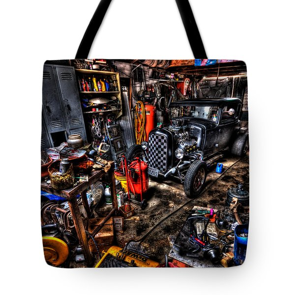Mechanics Garage Tote Bag