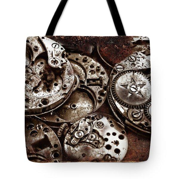 Rusty Watch Mechanism Tote Bag