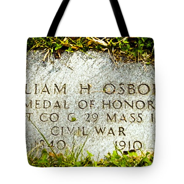 Medal Of Honor   Tote Bag by Bob and Nadine Johnston