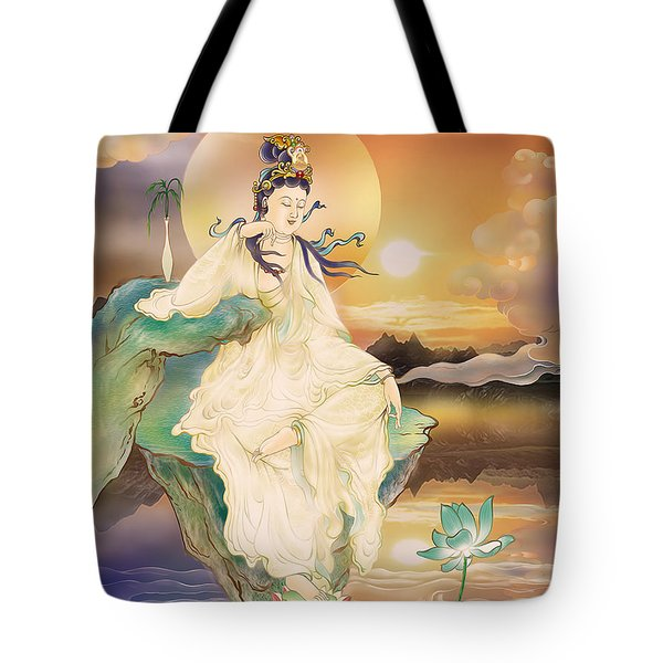 Medicine-giving Kuan Yin Tote Bag by Lanjee Chee