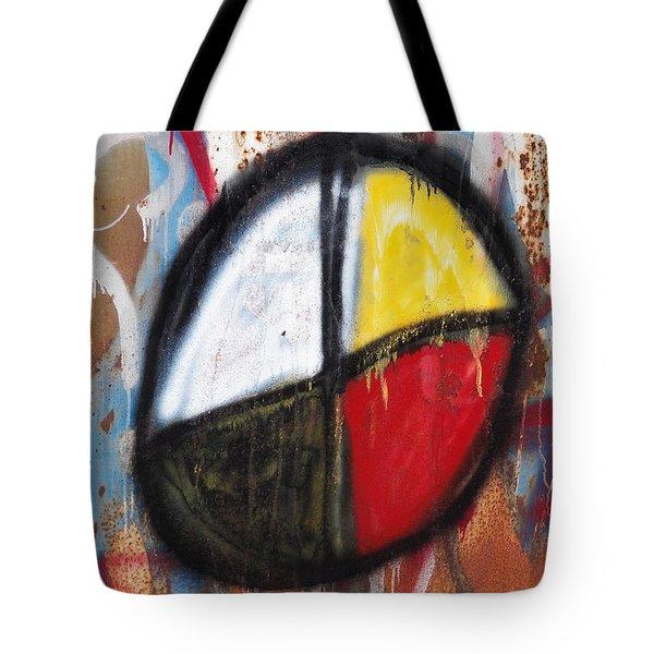 Medicine Wheel Graffiti Tote Bag