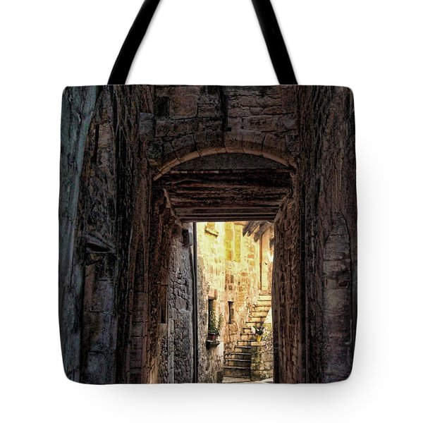 Medieval Alley Tote Bag
