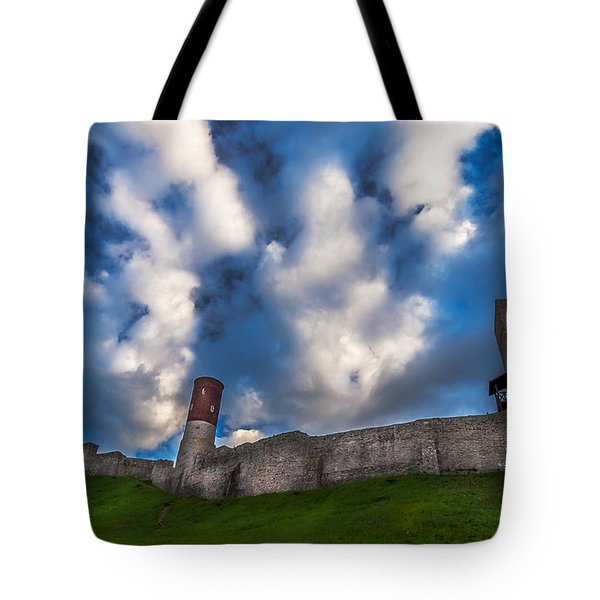 Tote Bag featuring the photograph Medieval Castle In Checiny In Poland by Julis Simo