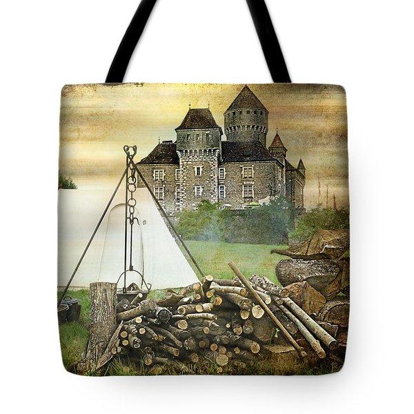 Medieval Castle Of Montrottier - France Tote Bag by Barbara Orenya