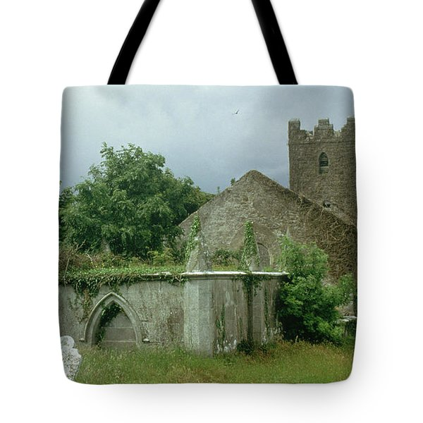 Medieval Church And Churchyard Tote Bag by Unknown