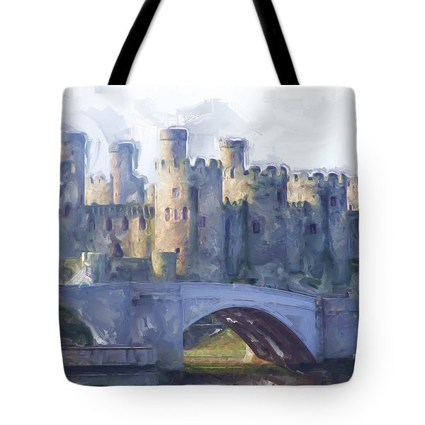 Medieval Conwy Castle.  Tote Bag