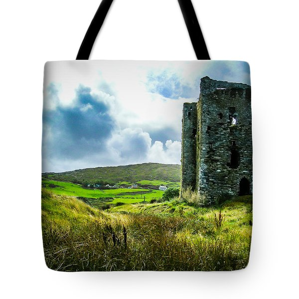Medieval Dunmanus Castle On Ireland's Mizen Peninsula Tote Bag
