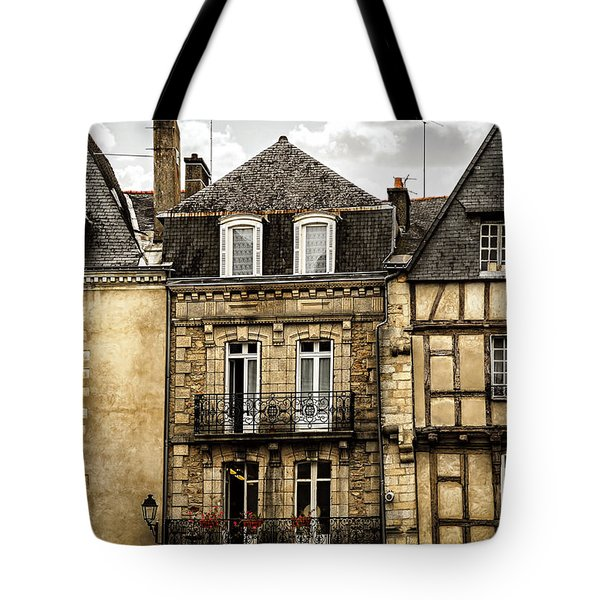 Medieval Houses In Vannes Tote Bag