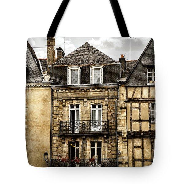 Medieval Houses In Vannes Tote Bag by Elena Elisseeva