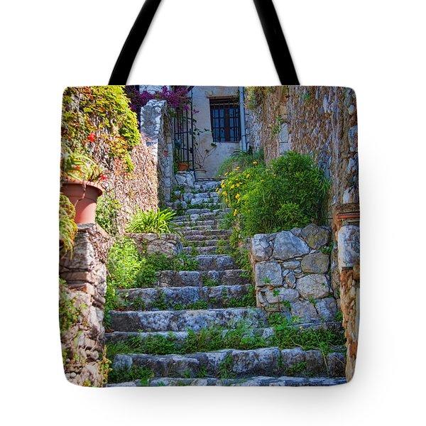Medieval Saint Paul De Vence 1 Tote Bag by David Smith