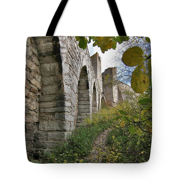 Medieval Town Wall Tote Bag