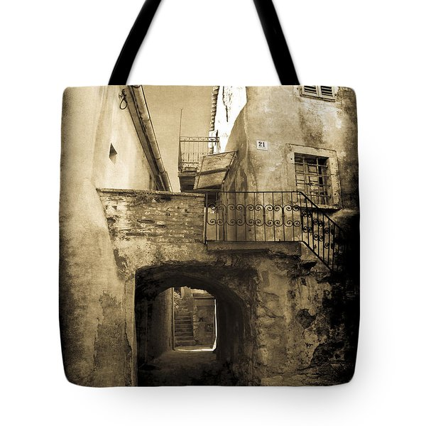 Tote Bag featuring the photograph Medieval Croatia by Jennifer Wright