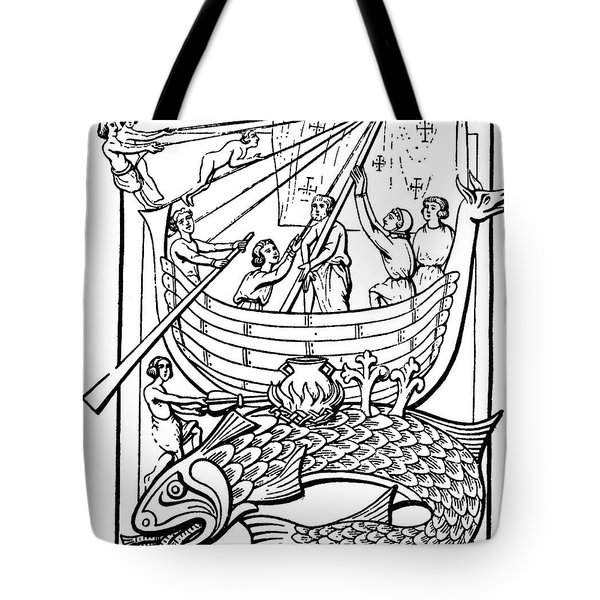 Medieval Whale Tote Bag