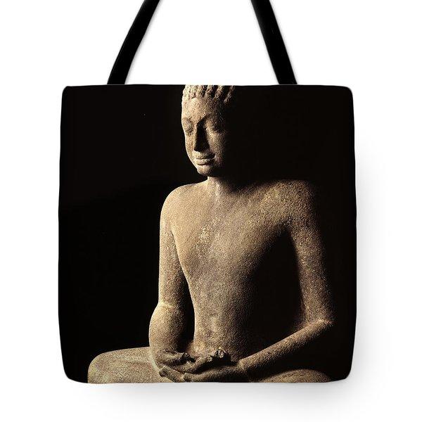 Meditating Buddha, Davaravati Period Tote Bag