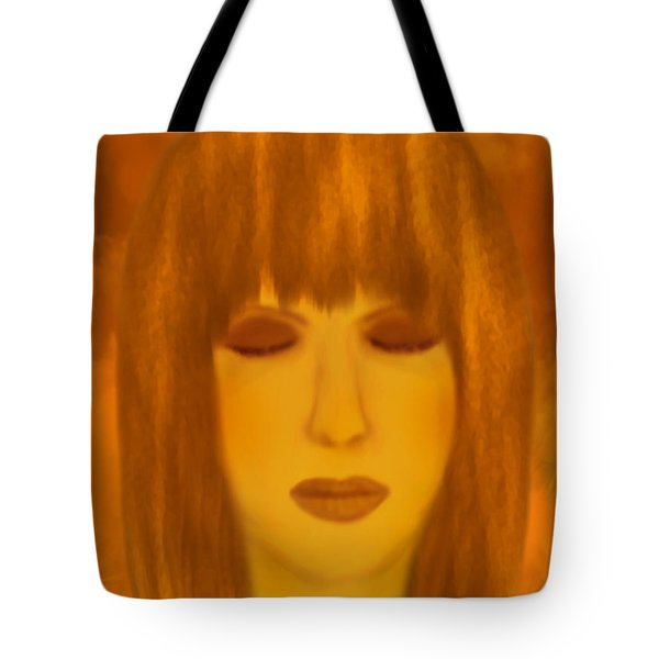 Meditating - Spiritual Painting By Giada Rossi  Tote Bag