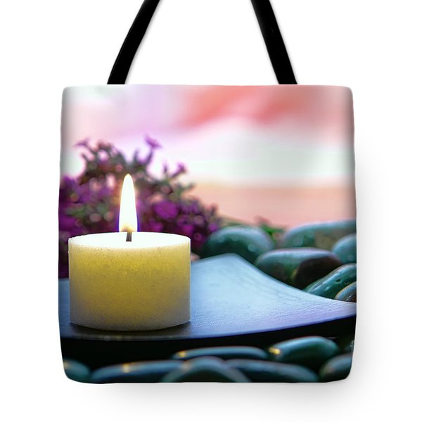 Meditation Candle Tote Bag