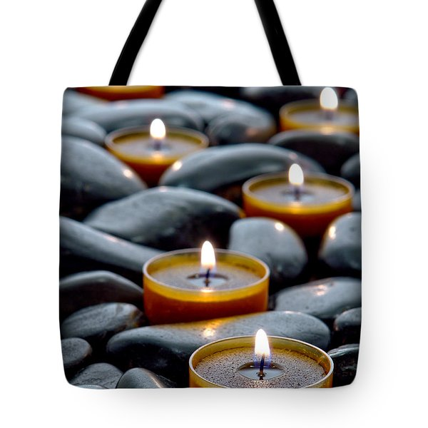 Meditation Candles Tote Bag